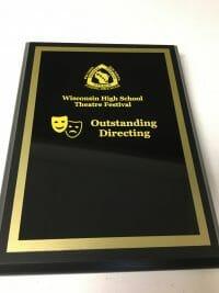 Outstanding Directing Plaque