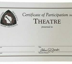 High School Speech Participation Certificate | Wisconsin High School
