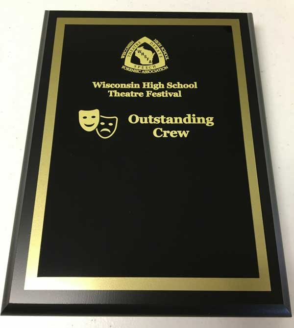 Outstanding Crew plaque