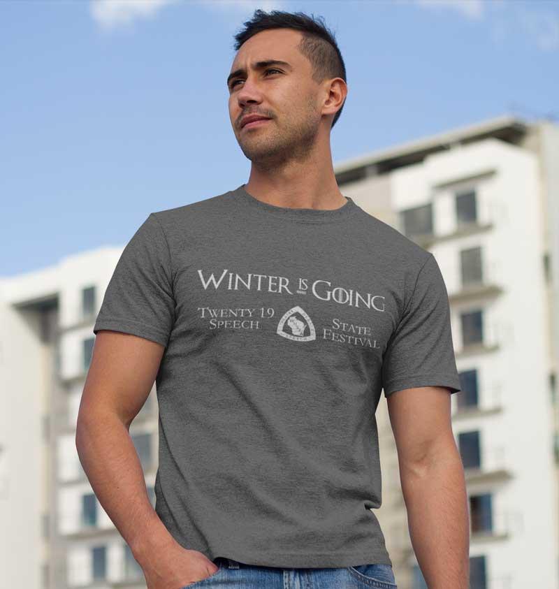 2019 State Speech T-shirt on model